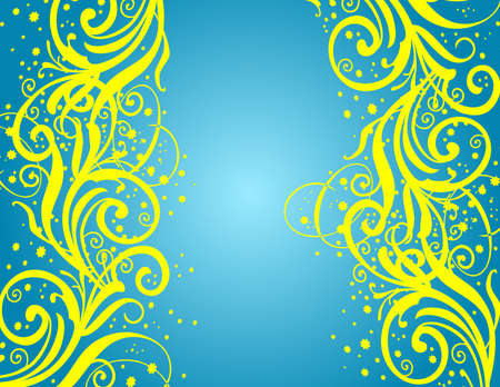 Abstract blue-yellow background Illustration