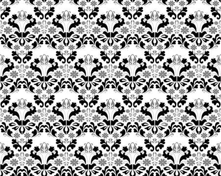 Illustration of abstract seamless black and grey ornament