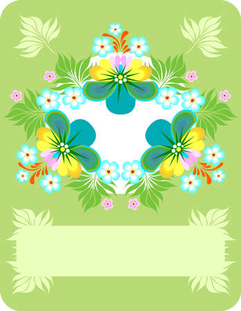 Illustration of abstract floral background Stock Vector - 13429996