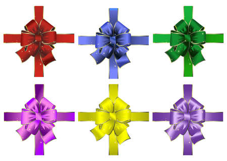 Illustration of abstract bows collection