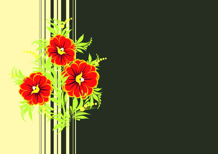 Illustration of abstract flowers branch with background Stock Vector - 13888714
