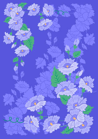 Illustration of abstract flowers with background Illustration
