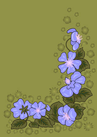 Illustration of abstract floral corner with background Illustration