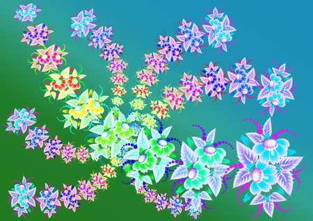 Illustration of abstract beautiful flowers with background Stock Vector - 14421813