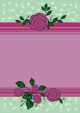 Illustration of frame with abstract flowers and dackground Illustration