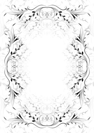 Illustration of abstract floral ornament on white background Vector