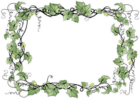 Illustration of abstract floral frame Stock Vector - 15620395