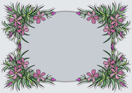 Illustration of abstract flowers frame Illustration