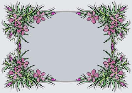 Illustration of abstract flowers frame Illustration