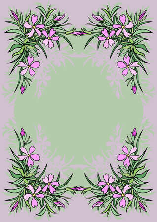 Illustration of abstract flowers frame Stock Vector - 17173571