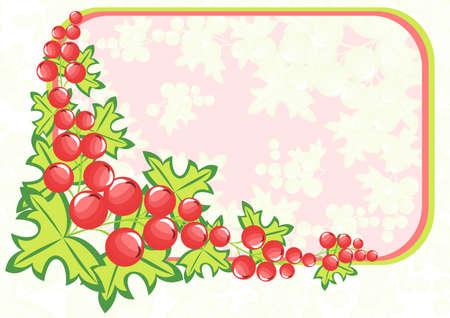 Illustration von Rahmen aus abstrakten Beeren