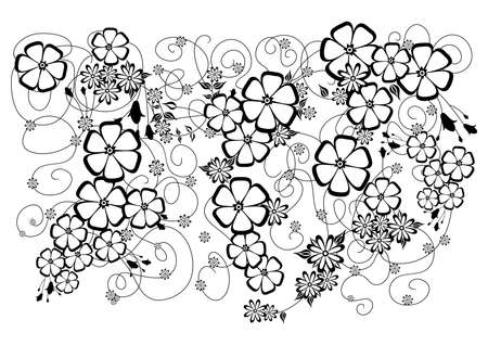 liane: Illustration of abstract floral background