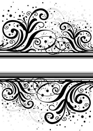 Illustration of abstract black and grey background