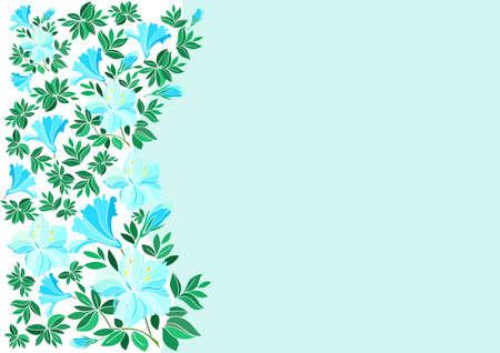 laurier rose: Illustration de fleurs bleu abstraite avec fond