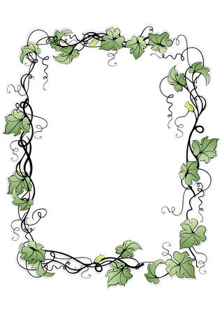 Illustration of abstract floral frame