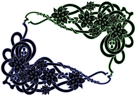 liane: Illustration of abstract floral frame isolated Illustration