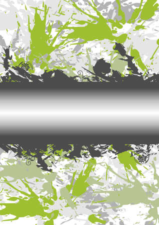 Illustration of abstract grunge background with banner