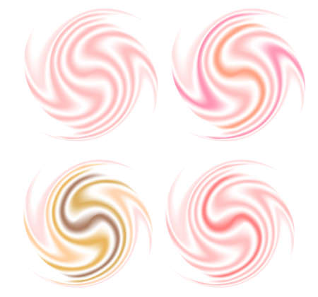 whirpool: Illustration of abstract smooth cream swirl set Illustration