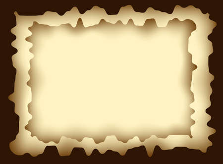 Illustration of frame from abstract burnt paper