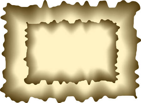 Illustration of sheet of a burnt paper Illustration