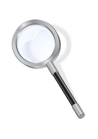 Illustration of magnifying glass isolated
