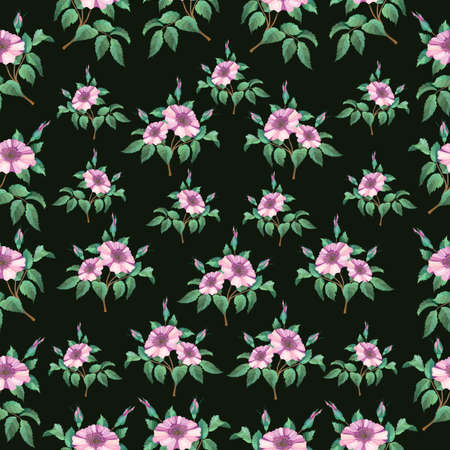 Illustration of seamless from abstract floral branches