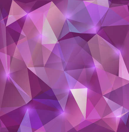 Illustration of triangle mosaic background in lilac colors