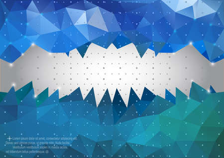 Illustration of triangle mosaic background in green and blue colors Illustration