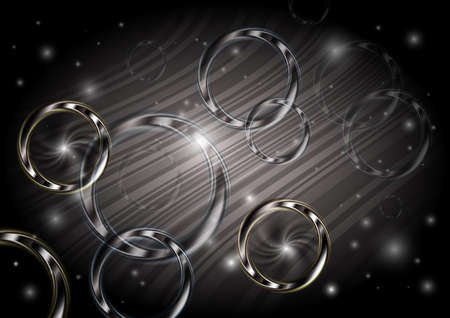 Illustration of abstract background with rings and stripes  Vector
