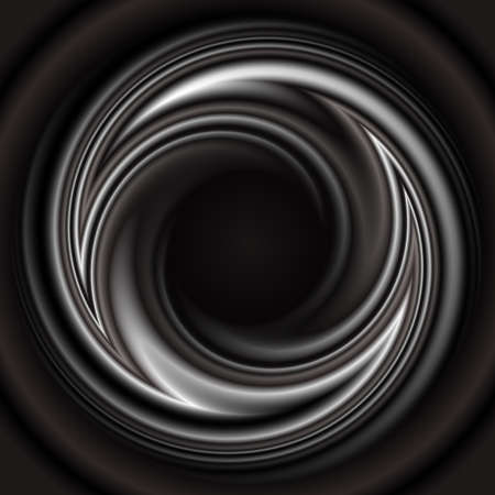Illustration of abstract smooth swirl in black, white and grey colors  Illustration