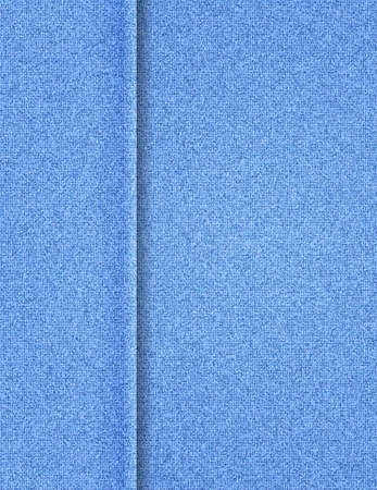 Illustration of blue fabric texture with seam boarder