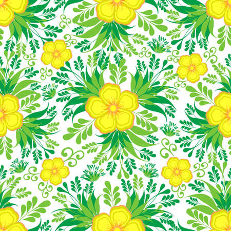 Illustration of seamless colorful floral pattern isolated Illustration