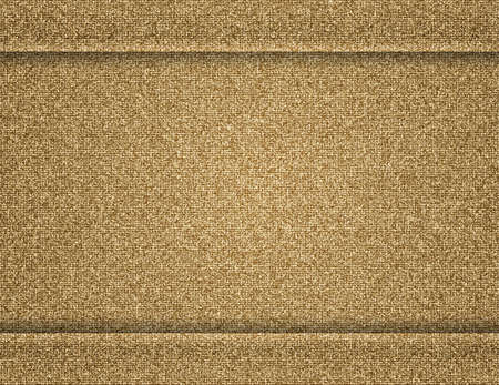 Illustration of brown fabric texture with seam boarders Illustration