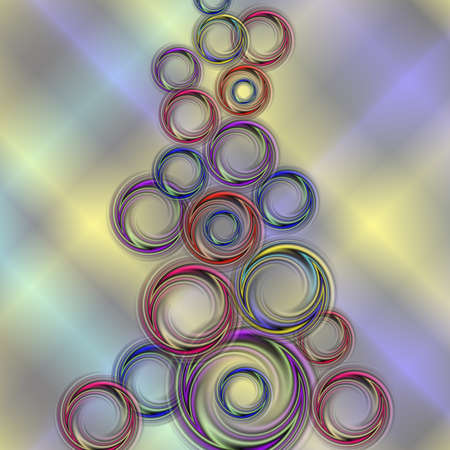 Illustration of abstract smooth swirls in various colors with background