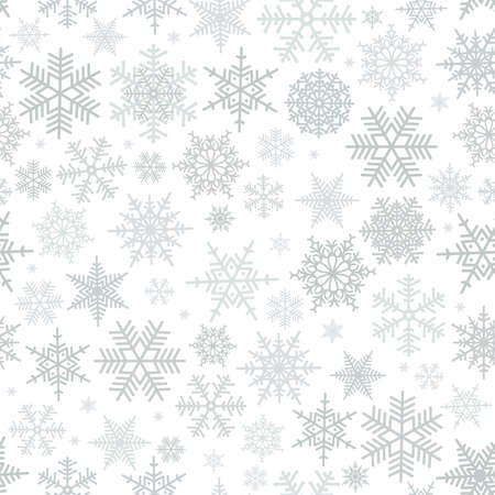Illustration of Christmas pattern with snowflakes isolated Illustration