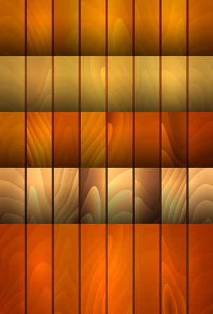 Illustration of collection of backgrounds with wood texture in various colors Illustration