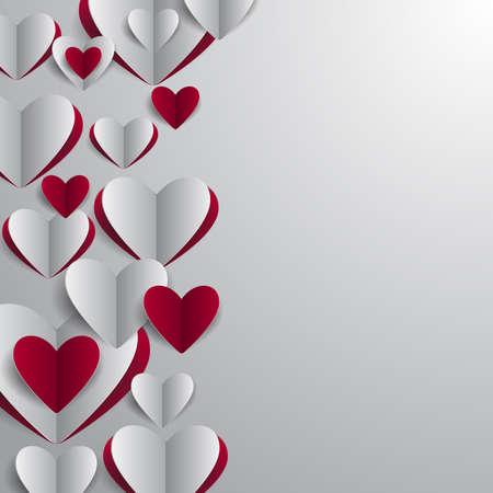 Illustration Von Valentinsgrußtageskarte Vorlage Mit Rahmen Aus ...