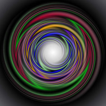 whirpool: Illustration of abstract smooth swirls in various colors