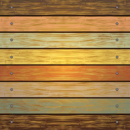 furnier: Illustration der Hintergrund von sch�bigen Holzbohlen mit rissige Farbe malen und Nagel Grenzen