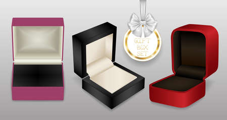 Illustration of jewelry gift boxes in various styles