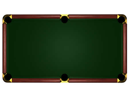 snooker table: 3d billiard table on white background - type overhand