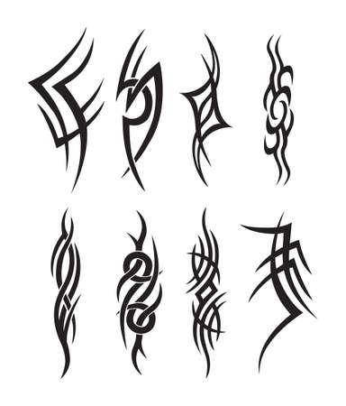 Tatuaggio simbolico tribale silhouette
