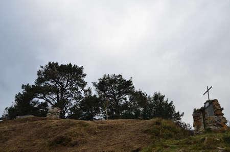 742014 San Sebastian de Garabandal. Cantabria. Spain. Mountain of the pins
