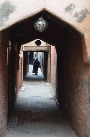 Streets of the medina of Marrakech Stock Photo