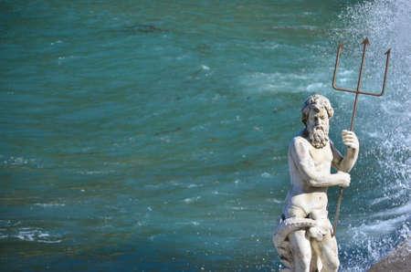 Sculpture of the god Neptune Stock Photo