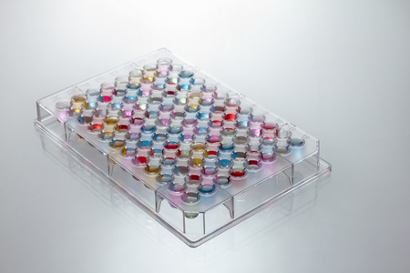 microplate with various color swatches