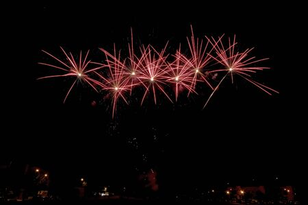 pyrotechnic displays: fireworks background