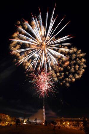 pyrotechnic displays: fireworks tree