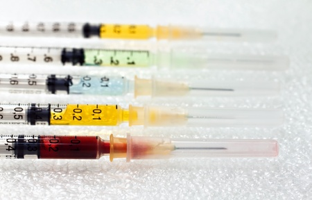 collecting syringes with medication. photo