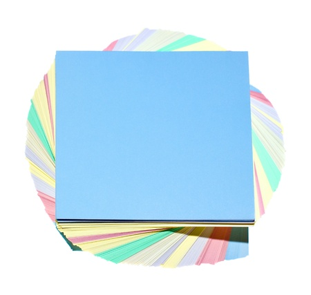 adesivi di colori isolato su uno sfondo bianco